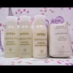 AVEDA travel size Shampoo/Conditioner/Bath Bar